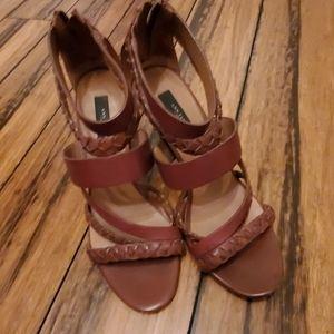 Brown ann taylor heels, size 7.5